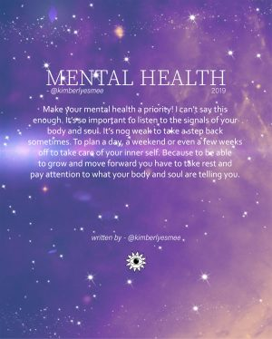 Mental health Positivity
